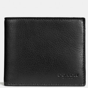 🔥COACH 3 IN 1 Leather Men's Wallet🔥NEW WITH TAGS
